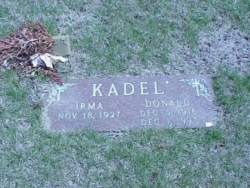 KADEL, DONALD & IRMA - Pottawattamie County, Iowa | DONALD & IRMA KADEL