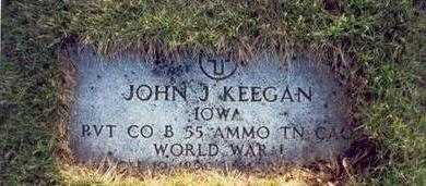 KEEGAN, JOHN J. - Pottawattamie County, Iowa | JOHN J. KEEGAN