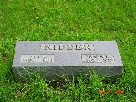 KIDDER, ELLA & FRANK E. - Pottawattamie County, Iowa | ELLA & FRANK E. KIDDER