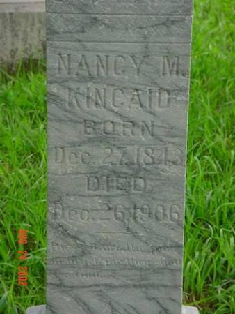 KINCAID, NANCY M. INSCRIPTION - Pottawattamie County, Iowa | NANCY M. INSCRIPTION KINCAID