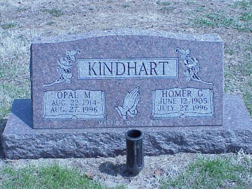 KINDHART, OPAL M. & HOMER C. - Pottawattamie County, Iowa | OPAL M. & HOMER C. KINDHART