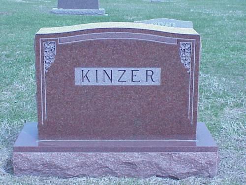 KINZER, ELLEN J. HEADSTONE - Pottawattamie County, Iowa | ELLEN J. HEADSTONE KINZER