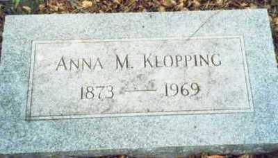 KLOPPING, ANNA M. - Pottawattamie County, Iowa | ANNA M. KLOPPING