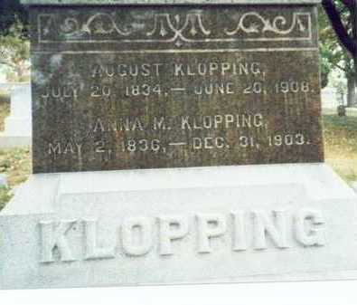 KLOPPING, AUGUST H. - Pottawattamie County, Iowa | AUGUST H. KLOPPING