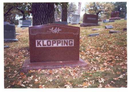 KLOPPING, FAMILY MARKER - Pottawattamie County, Iowa | FAMILY MARKER KLOPPING
