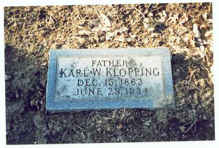 KLOPPING, KARL W. - Pottawattamie County, Iowa | KARL W. KLOPPING
