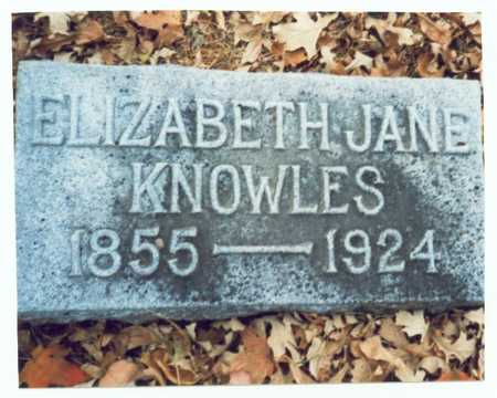 KNOWLES, ELIZABETH JANE - Pottawattamie County, Iowa | ELIZABETH JANE KNOWLES