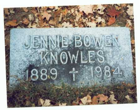 BOWEN KNOWLES, JENNIE - Pottawattamie County, Iowa | JENNIE BOWEN KNOWLES