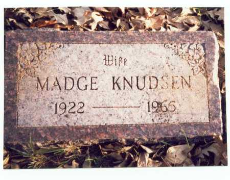 KNUDSEN, MADGE - Pottawattamie County, Iowa | MADGE KNUDSEN