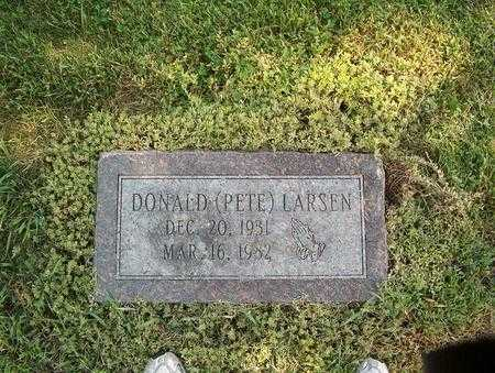 LARSEN, DONALD (PETE) - Pottawattamie County, Iowa | DONALD (PETE) LARSEN