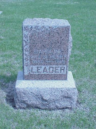LEADER, CAROLINE - Pottawattamie County, Iowa | CAROLINE LEADER