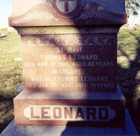 LEONARD, THOMAS AND MARGARET - Pottawattamie County, Iowa | THOMAS AND MARGARET LEONARD
