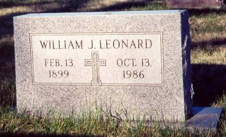 LEONARD, WILLIAM J. - Pottawattamie County, Iowa | WILLIAM J. LEONARD
