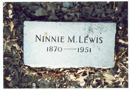LEWIS, NINNIE M. - Pottawattamie County, Iowa | NINNIE M. LEWIS