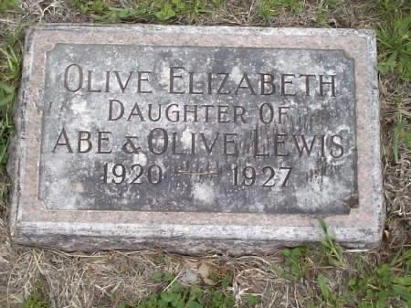 LEWIS, OLIVE ELIZABETH - Pottawattamie County, Iowa | OLIVE ELIZABETH LEWIS