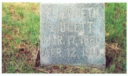 CONKLIN LIDGETT, ELIZABETH - Pottawattamie County, Iowa | ELIZABETH CONKLIN LIDGETT