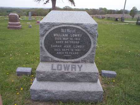 LOWRY, WILLIAM - Pottawattamie County, Iowa | WILLIAM LOWRY