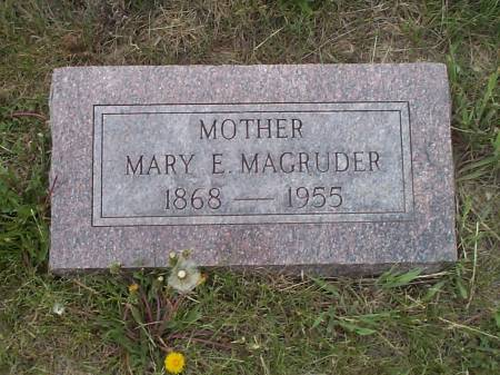 MAGRUDER, MARY E. - Pottawattamie County, Iowa | MARY E. MAGRUDER