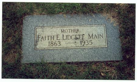MAIN, LIDGETT, FAITH E. - Pottawattamie County, Iowa | FAITH E. MAIN, LIDGETT