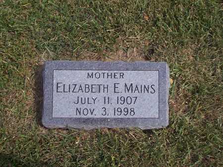 MAINS, ELIZABETH E. - Pottawattamie County, Iowa | ELIZABETH E. MAINS