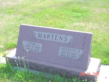 MARTENS, KENNETH D. - Pottawattamie County, Iowa | KENNETH D. MARTENS
