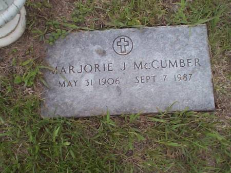 MCCUMBER, MARJORIE J. - Pottawattamie County, Iowa   MARJORIE J. MCCUMBER