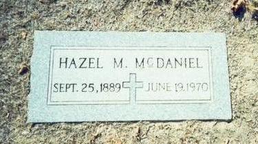 MCDANIEL, HAZEL M. - Pottawattamie County, Iowa | HAZEL M. MCDANIEL