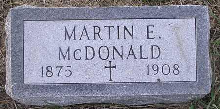 MCDONALD, MARTIN - Pottawattamie County, Iowa   MARTIN MCDONALD