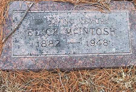 MCINTOSH, ELICK - Pottawattamie County, Iowa   ELICK MCINTOSH
