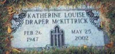 DRAPER MCKITTRICK, KATHERINE LOUISE - Pottawattamie County, Iowa | KATHERINE LOUISE DRAPER MCKITTRICK