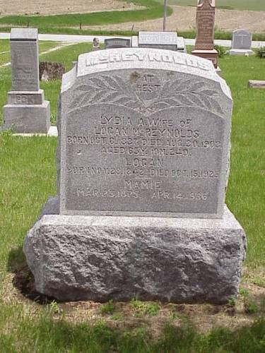 MCREYNOLDS, LYDIA A., LOGAN, & MAMIE - Pottawattamie County, Iowa | LYDIA A., LOGAN, & MAMIE MCREYNOLDS