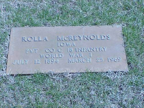 MCREYNOLDS, ROLLA - Pottawattamie County, Iowa | ROLLA MCREYNOLDS