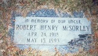 MCSORLEY, ROBERT HENRY - Pottawattamie County, Iowa | ROBERT HENRY MCSORLEY