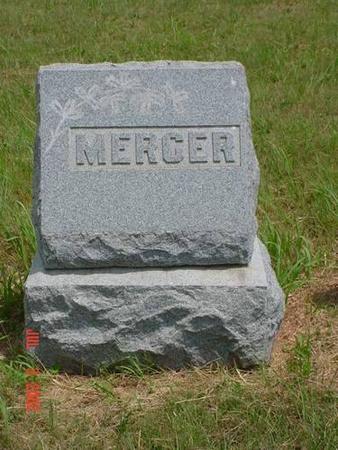 MERCER, HEADSTONE - Pottawattamie County, Iowa   HEADSTONE MERCER