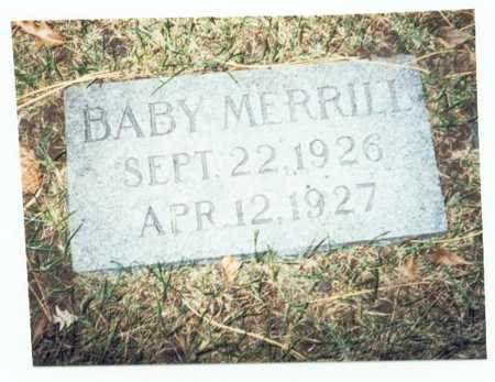MERRILL, BABY - Pottawattamie County, Iowa | BABY MERRILL