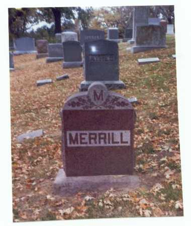 MERRILL, FAMILY MARKER - Pottawattamie County, Iowa | FAMILY MARKER MERRILL