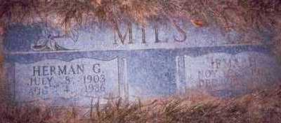 MILS, HERMAN G. - Pottawattamie County, Iowa | HERMAN G. MILS