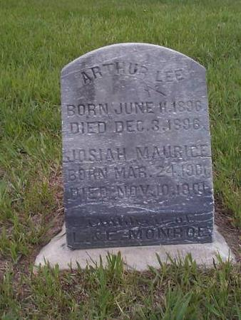 MONROE, ARTHUR LEE & JOSIAH MAURICE - Pottawattamie County, Iowa | ARTHUR LEE & JOSIAH MAURICE MONROE