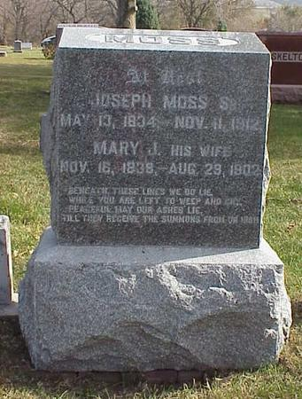 JONES MOSS, MARY JANE - Pottawattamie County, Iowa | MARY JANE JONES MOSS