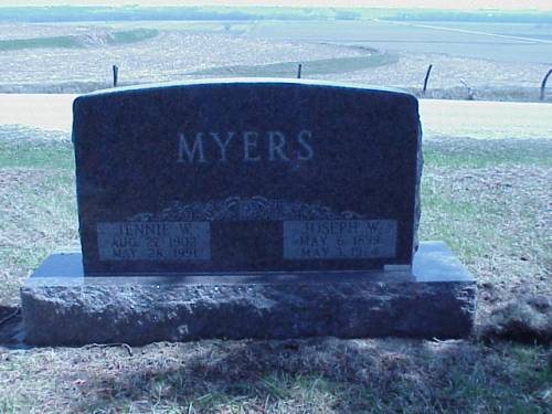 MYERS, JENNIE W. & JOSEPH - Pottawattamie County, Iowa | JENNIE W. & JOSEPH MYERS