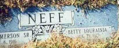 NEFF, BETTY LOURAINIA - Pottawattamie County, Iowa | BETTY LOURAINIA NEFF