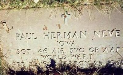 NEVE, PAUL HERMAN - Pottawattamie County, Iowa | PAUL HERMAN NEVE