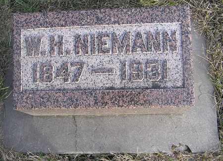 NIEMANN, W H - Pottawattamie County, Iowa | W H NIEMANN