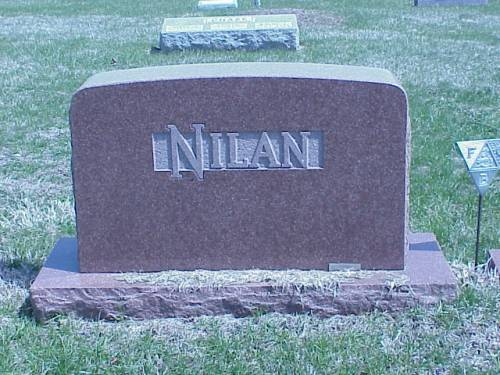 NILAN, HEADSTONE - Pottawattamie County, Iowa | HEADSTONE NILAN