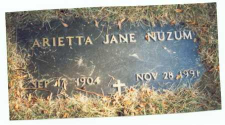 SHORTRIDGE NUZUM, ARIETTA JANE - Pottawattamie County, Iowa | ARIETTA JANE SHORTRIDGE NUZUM