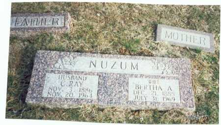 NUZUM, BERTHA AMELIA - Pottawattamie County, Iowa | BERTHA AMELIA NUZUM
