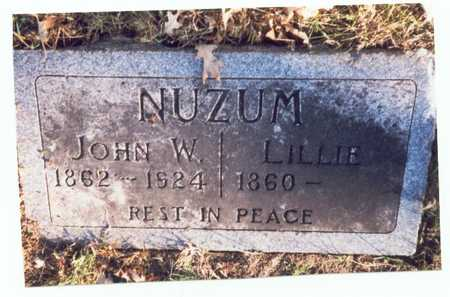 NUZUM, JOHN WILLIAM - Pottawattamie County, Iowa | JOHN WILLIAM NUZUM