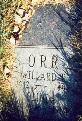 ORR, WILLARD E. - Pottawattamie County, Iowa | WILLARD E. ORR