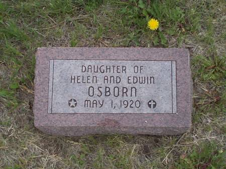 OSBORN, DAUGHTER OF HELEN & EDWIN - Pottawattamie County, Iowa | DAUGHTER OF HELEN & EDWIN OSBORN