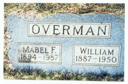 OVERMAN, MABEL F. - Pottawattamie County, Iowa | MABEL F. OVERMAN